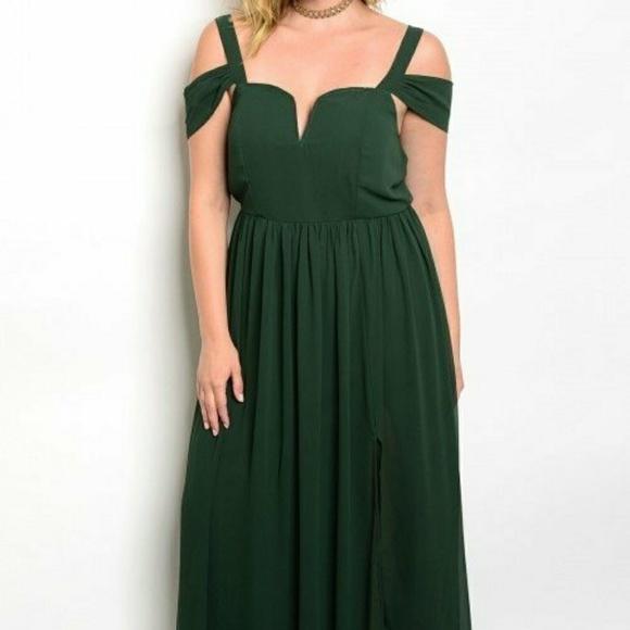 Dark Green Plus Size Dress